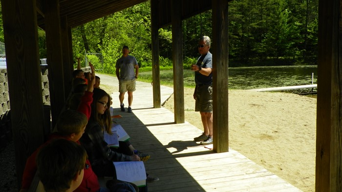 The Living Environment at Lilly Lake: Campers examine the process of fish nesting, and study the food chain by observing different specimens from the lake.