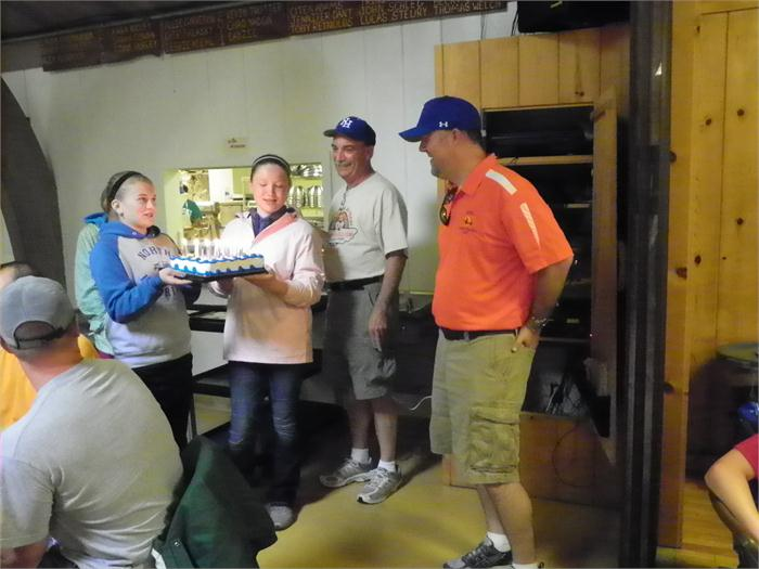 Birthday: The entire group of campers sang Happy Birthday to Mr. Freed..