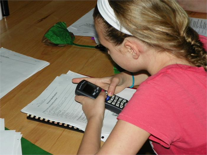 Testing with the Ren Responders: The students read and answer questions on the Responders.