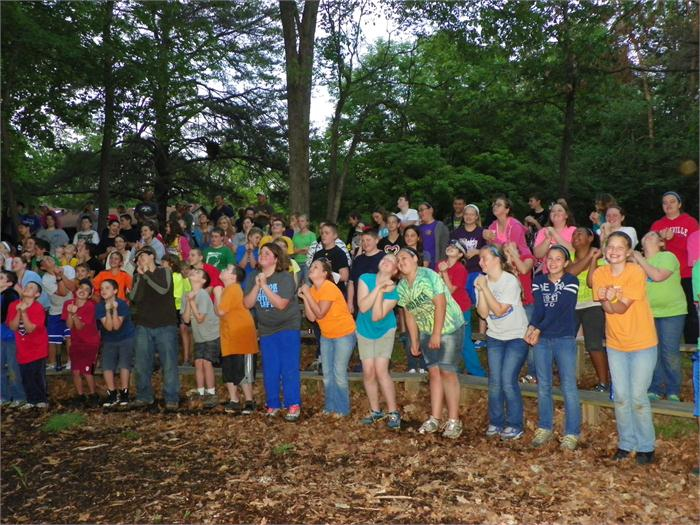 Campfire Skit: The campers really enjoyed the skit.