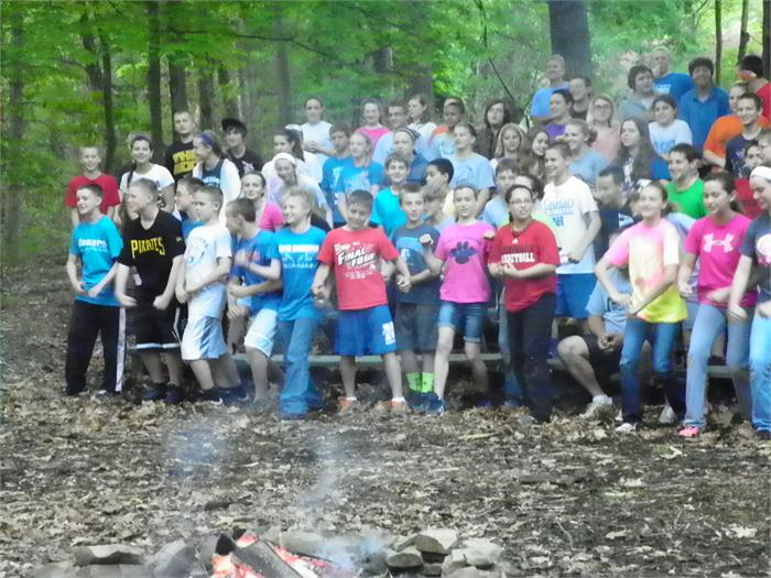 Campfire Skit: The campers had fun moving around.