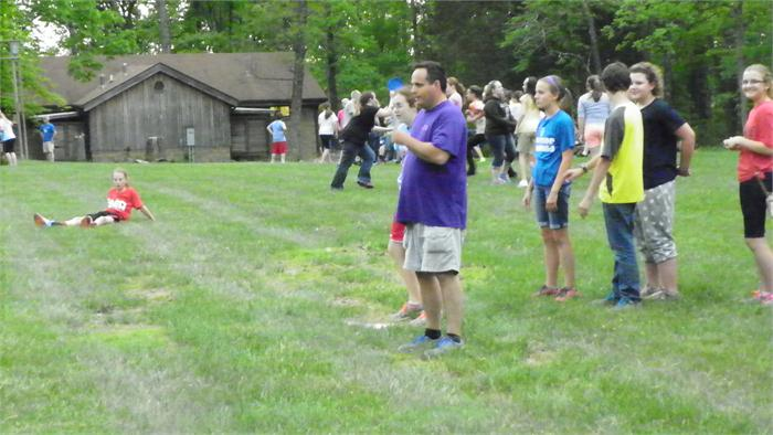 Recess: Mr. Sieg plays a little kickball.