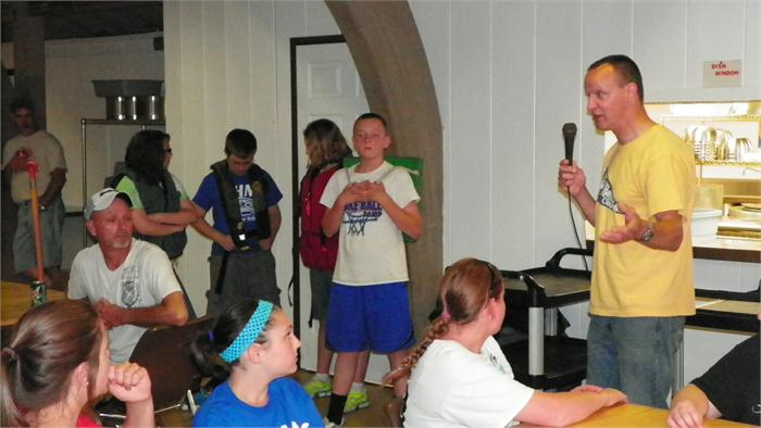 DNR Officer Jim Hash talked to the campers about water safety.