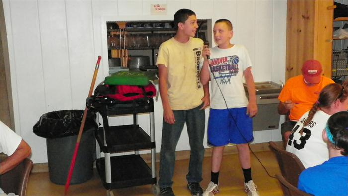 Camp Idol: Braden and Derek sang