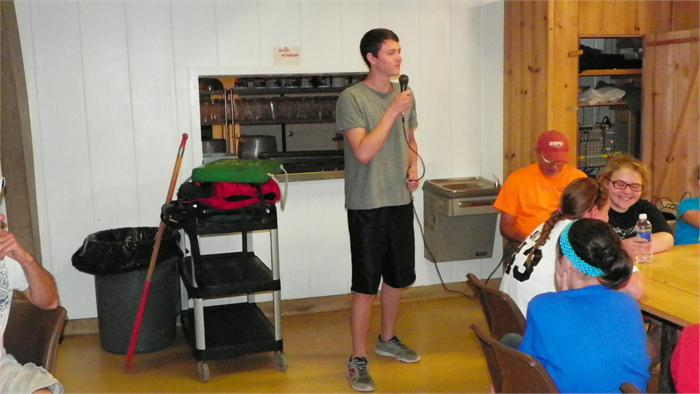 Camp Idol: Austin sang and entertained the campers.