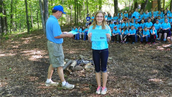 Camp Awards: Ellie receives the