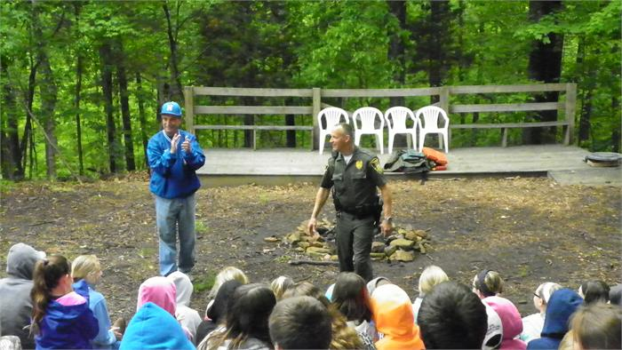 Water Safety with DNR Officer Jim Hash Thanks to Officer Hash for taking the time from your busy schedule to educate the campers about water safety!