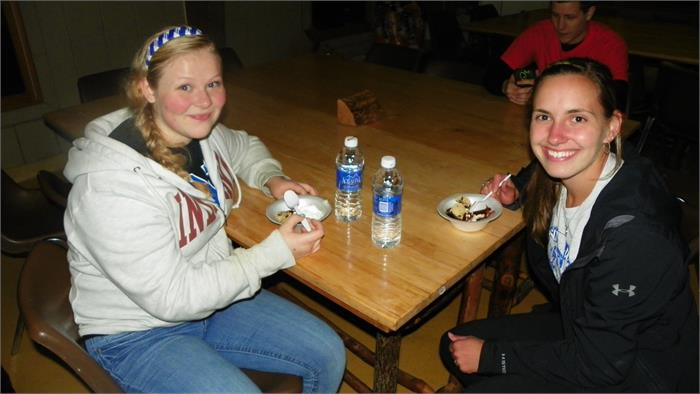 Ice cream sundaes to top off the evening! - Kendra and Maddie