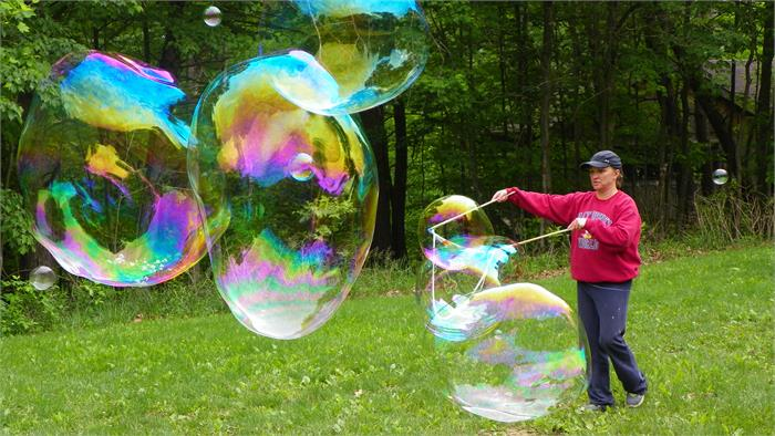 Bubbles -Mrs. Voyles and the biggest bubbles ever!