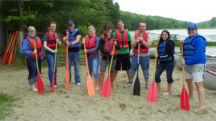 High School and College Staff Canoeing