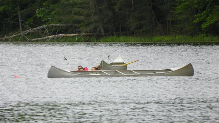 Canoeing at Lilly Lake - They must have hit an iceberg!
