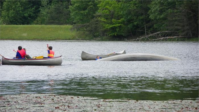 Canoeing at Lilly Lake