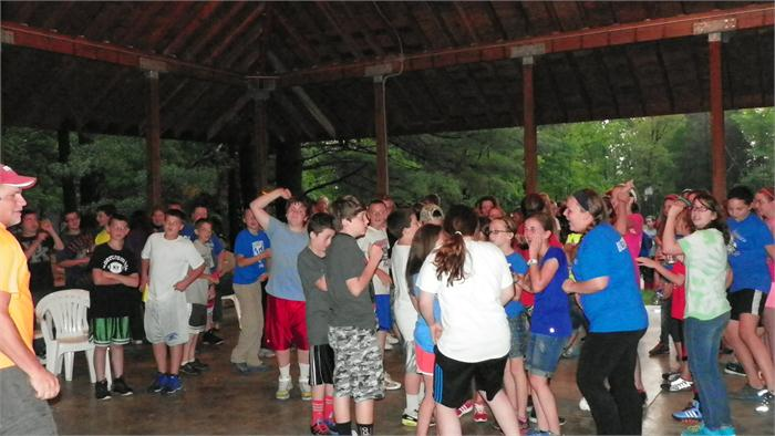 Due to the rain, the campers got to have a dance at the shelter house.
