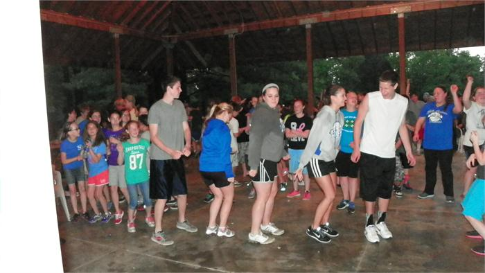Our NHHS Senior campers showing the 6th graders how to dance.