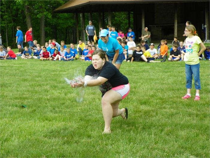 Girls Balloon Toss: Brianne wasn't able to make the catch